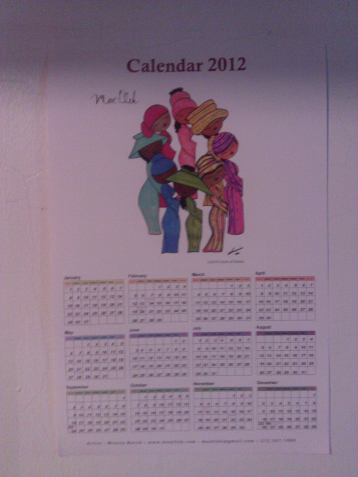 2012 Moetleh Calendar