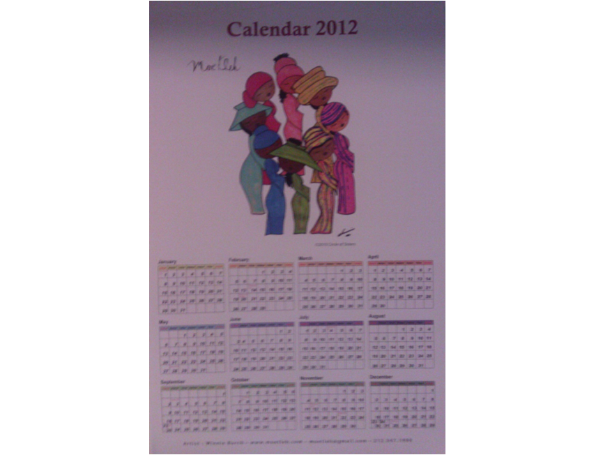 2012 Moetleh Calendar