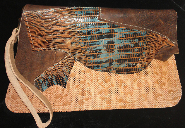 Custom Leather Clutch Purse